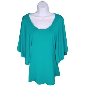 Guess by Marciano, Teal Top, Bell Sleeves, S